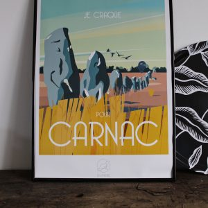 Affiche Carnac, Made in France, Nasitra Shop