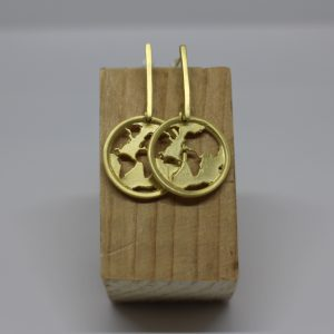 Boucles d'Oreilles Atlas or, Nasitra Shop