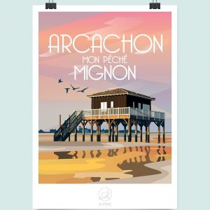 Affiche Arcachon, Made in France, Nasitra Shop
