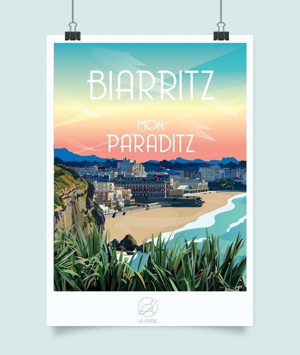 Affiche Biarritz, Made in France, Nasitra Shop