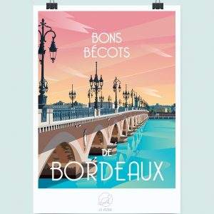 Affiche Bordeaux, Made in France, Nasitra Shop
