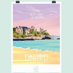 Affiche Dinard, Made in France, Nasitra Shop