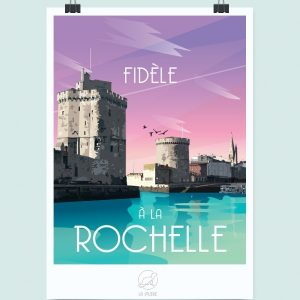 Affiche La Rochelle, Made in France, Nasitra Shop