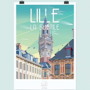 Affiche Lille, Made in France, Nasitra Shop