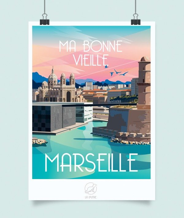 Affiche Marseille, Made in France, Nasitra Shop