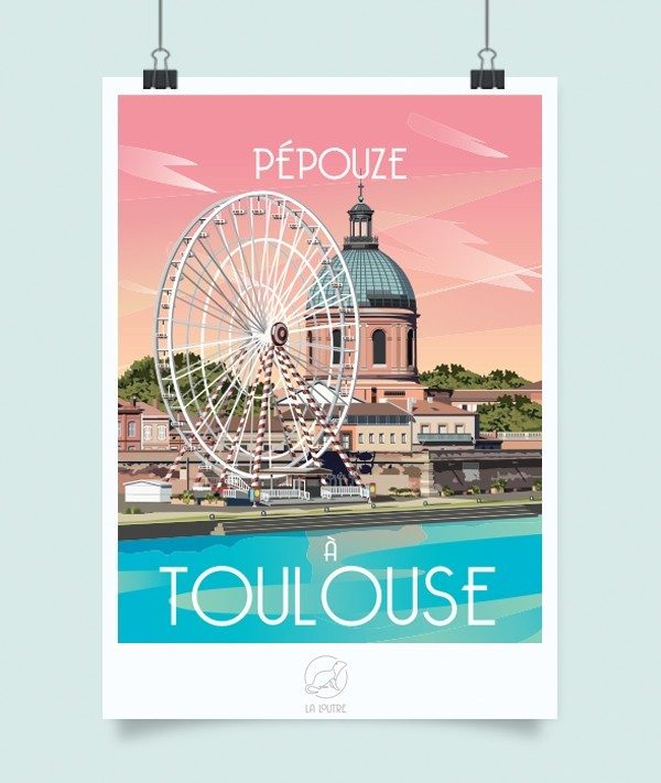 Affiche Toulouse, Made in France, Nasitra Shop