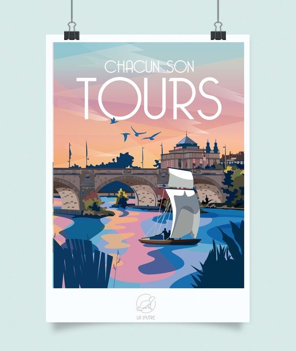 Affiche Tours, Made in France, Nasitra Shop
